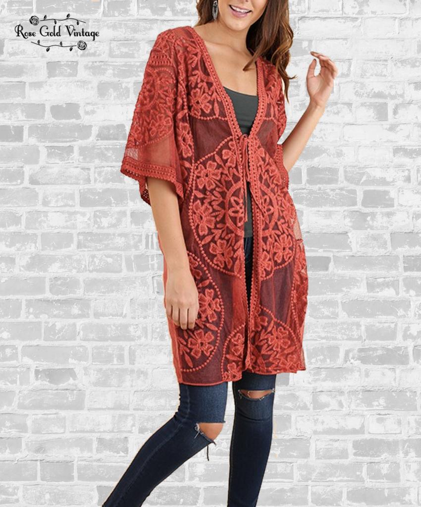 Cream Damen Cape Nilla Kimono