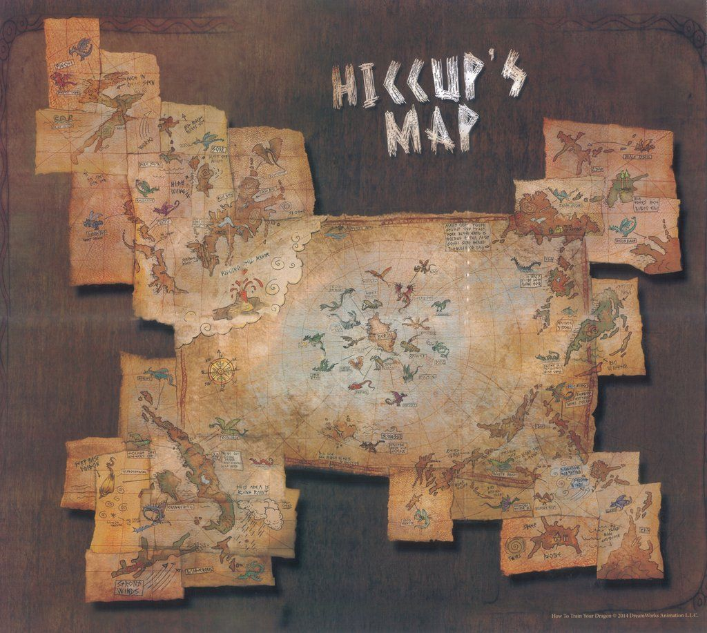 Hiccup Map With Images How Train Your Dragon How To Train