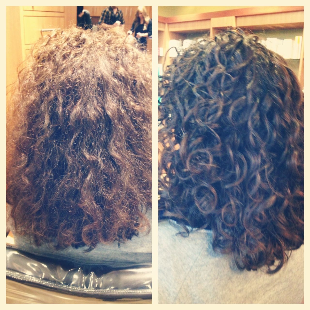 Before And After Photo Of A New Ouidad Haircut Studiobooth Curlyhair Curly Hair Styles Hair Color Hair