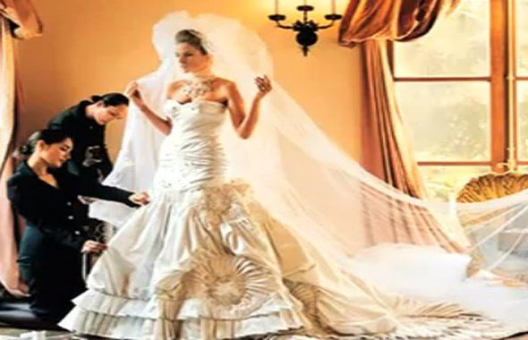 The 12 most expensive celebrity wedding gowns of all time for 3rd time wedding dresses