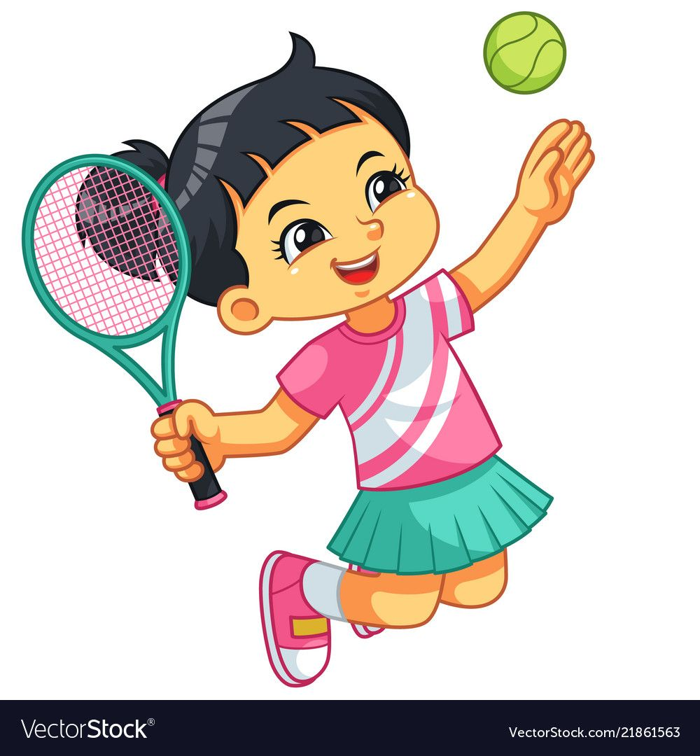 Tennis Girl Jump Smash Download A Free Preview Or High Quality Adobe Illustrator Ai Eps Pdf And High Girl Cartoon Characters Girl Cartoon Cute Cartoon Girl