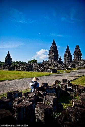 Prambanan Hindu temple  in Central Java, Indonesia