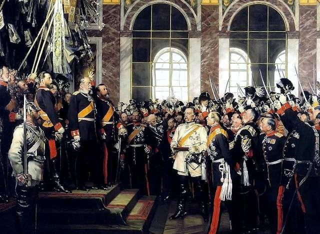 La Proclamazione Del Reich Della Germania Nel 1871 800 Pinterest