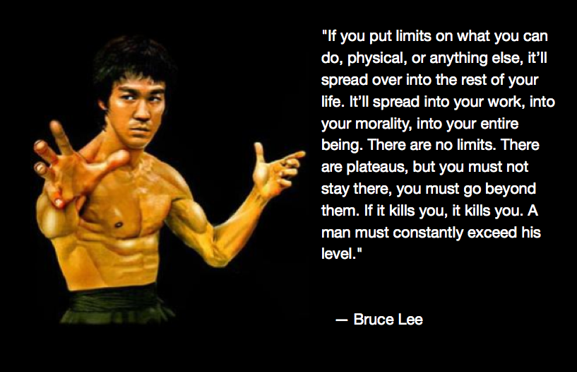 Limits Bruce Lee Quote Bruce Lee Quotes Bruce Lee Bruce Lee Workout