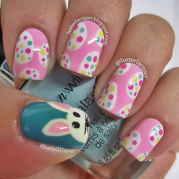Adorable Easter Nail Art - Learn from the best at http://bit.ly ...