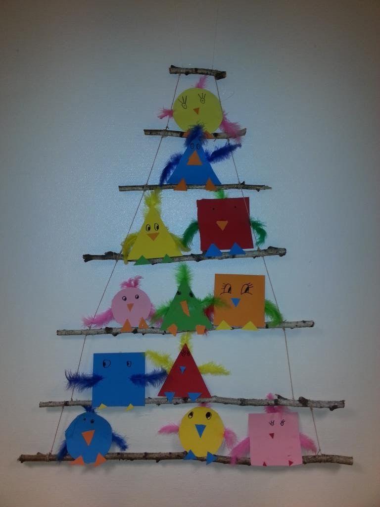 Farben Und Formen Ist Unser Aktuelles Thema Passend Dazu Habe Wir Formenvögel Gebastelt Dafür Haben Die Herbstbastelprojekte Kindergarten Formen Basteln