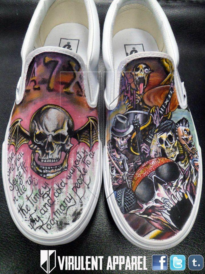 43f8acba42 Avenged Sevenfold Converse Shoes