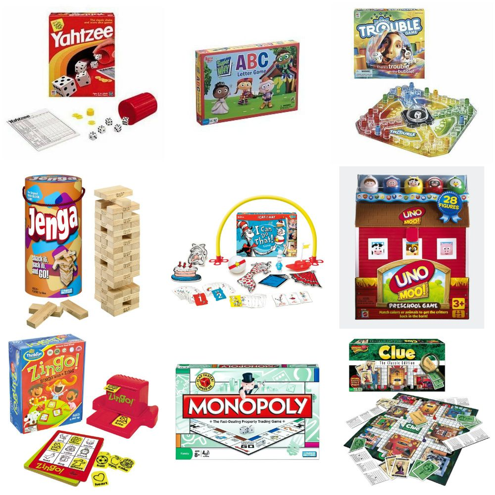kids games at table for