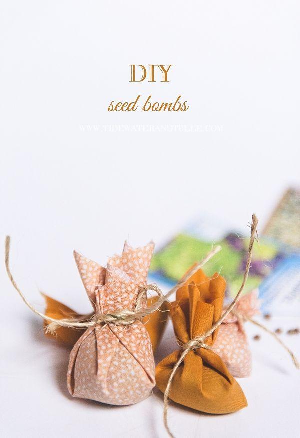 d2d3774d0f9c1 DIY Seed Bomb Wedding Favors in 2019   Wedding Favors & Table Top ...
