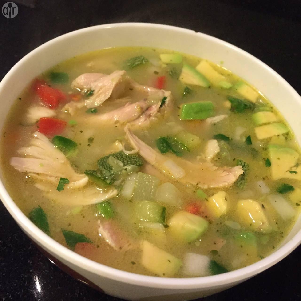 sopa de pollo y verduras para adelgazar