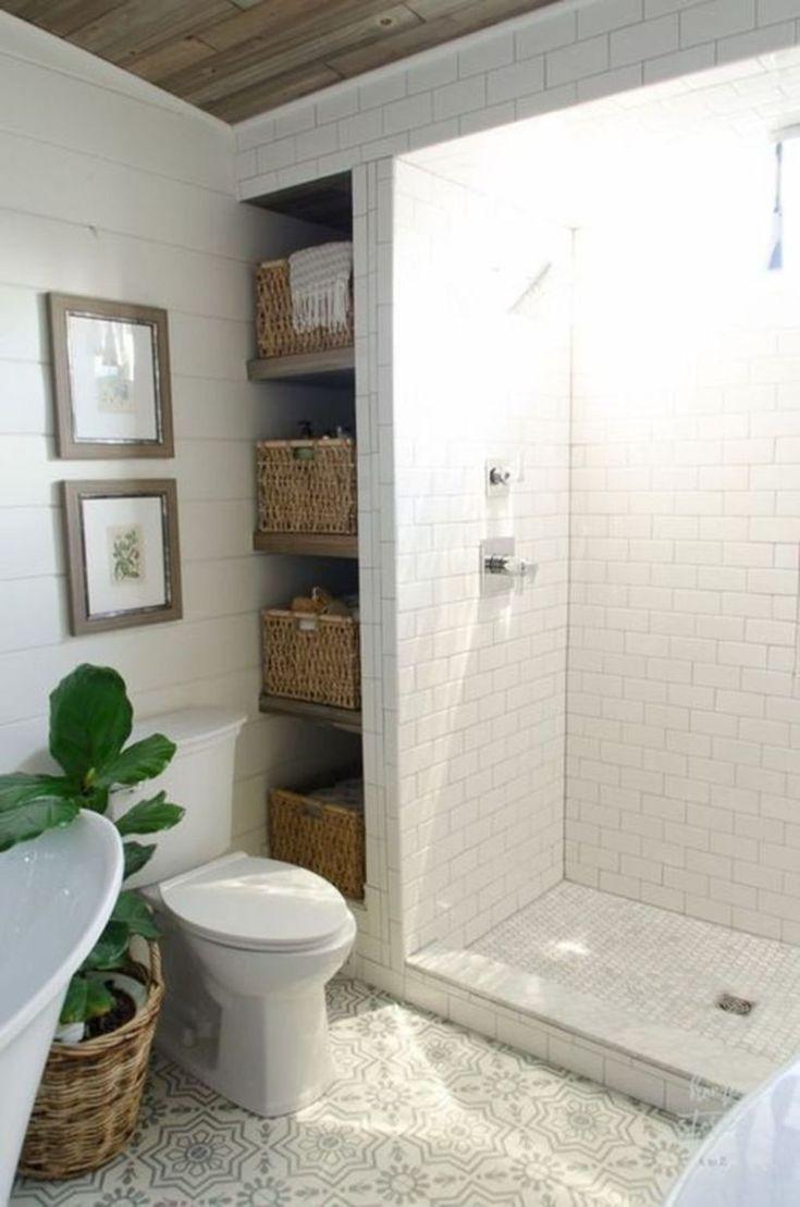49 Modern Farmhouse Bathroom Remodel Ideas #bathroomdecoration