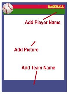 Baseball Card Template Directions