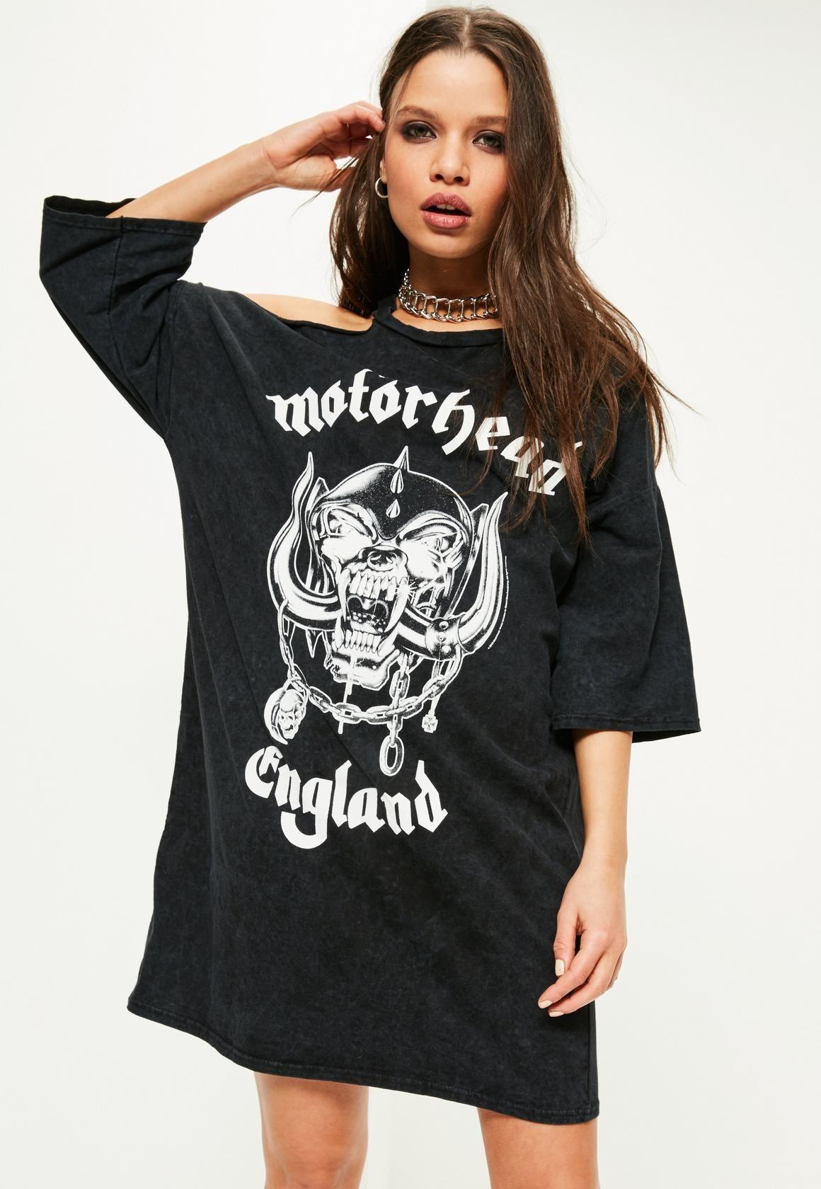 Black t shirt jersey dress - Black Black Motorhead Wash T Shirt Dress