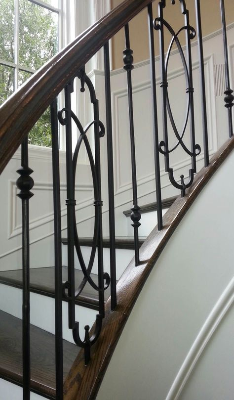 Best Metal Stairs Railing Makeover 48 Ideas In 2020 Stair Railing Makeover Iron Stair Balusters 400 x 300
