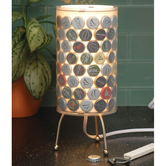 Remake It Bottle Cap Lamp Off Your Bar Top Or Nightstand With Some Style That