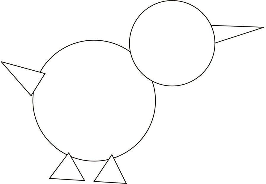 Figuras Para Colorear Para Niños: Para Formar Dibujos Con Las Figuras Geométricas (de La Web