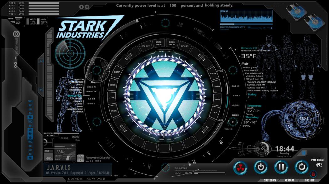 Iron Man Wallpaper Iron Man Iron Man Arc Reactor Iron man wallpaper jarvis desktop