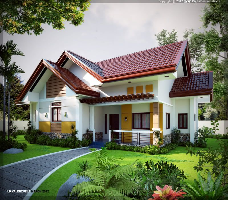Top Modern Bungalow Design: Bungalow Exterior Render By Leo Valenzuela