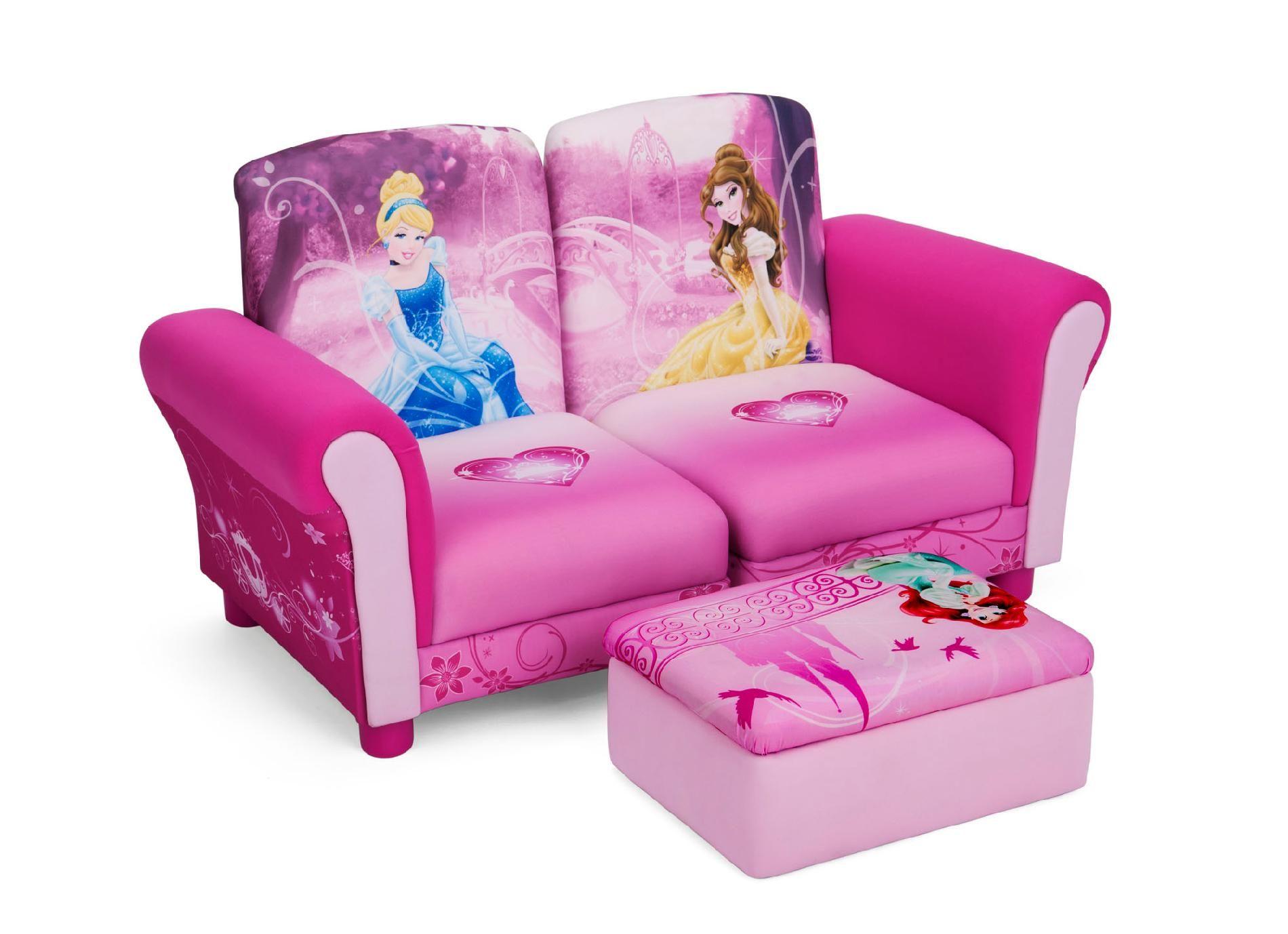 Delta childrens disney princess 3 pc upholstered baby