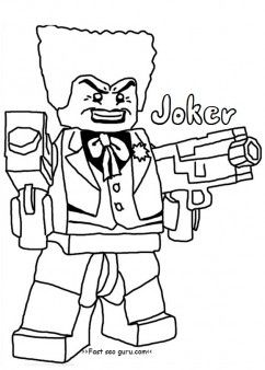 Free Printable Lego Batman Joker Coloring Pages For Boy Print