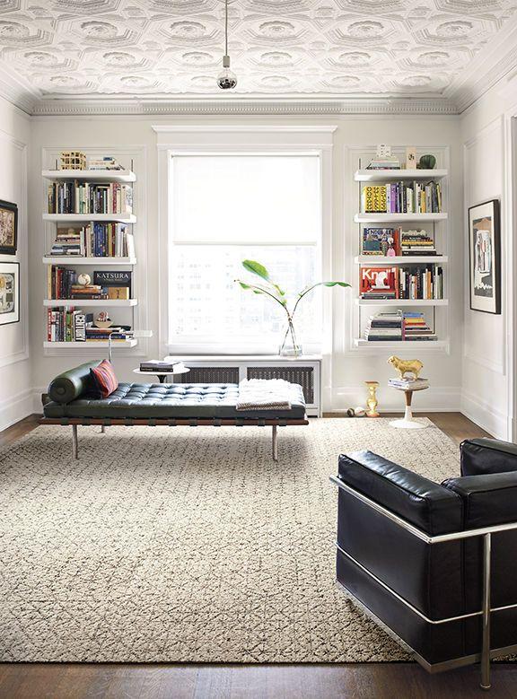 Vintage Vibe Living Room Decor Rustic Modular Carpet Living