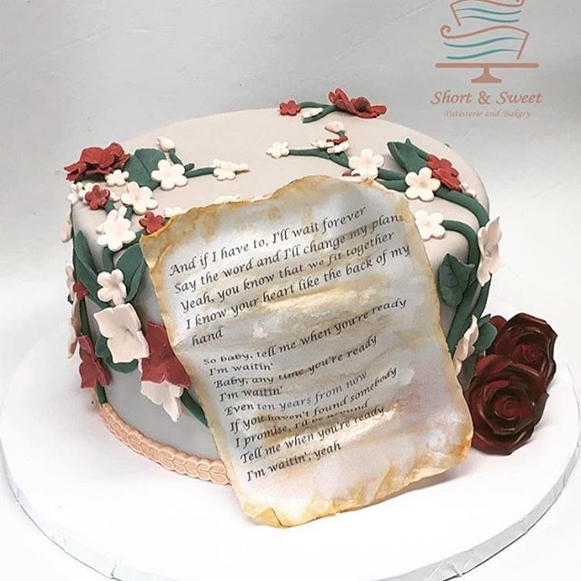 A Gorgeous Cake By @shortandsweetpatisserie Based On