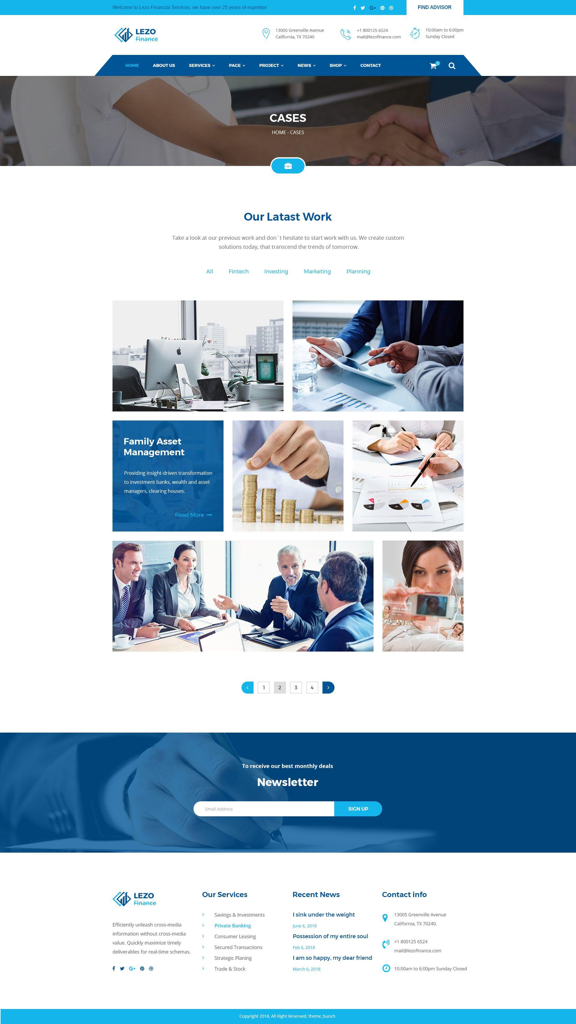 Lezo Business Finance Consulting Psd Template Finance Asset Management Psd Templates