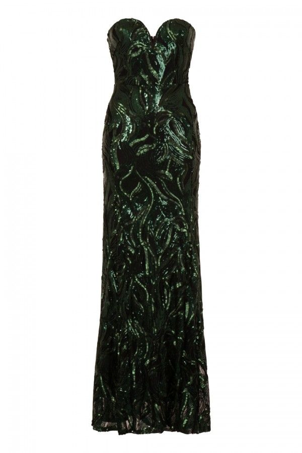 Tfnc maxi dress with sequin inserts for running