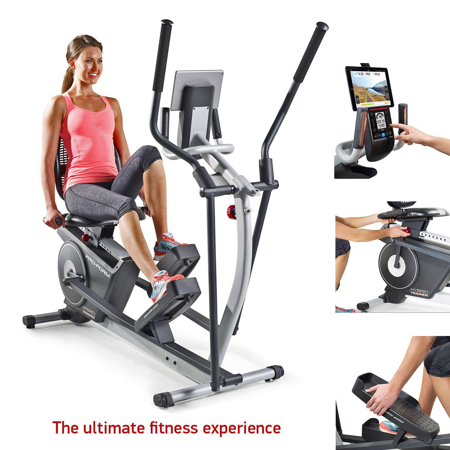 Elliptical recumbent bike 2in1 hybrid gym trainer