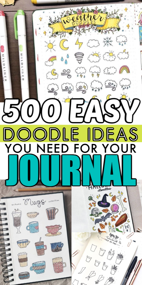 500+ Cute Doodle Ideas to Sketch in Your Free Time