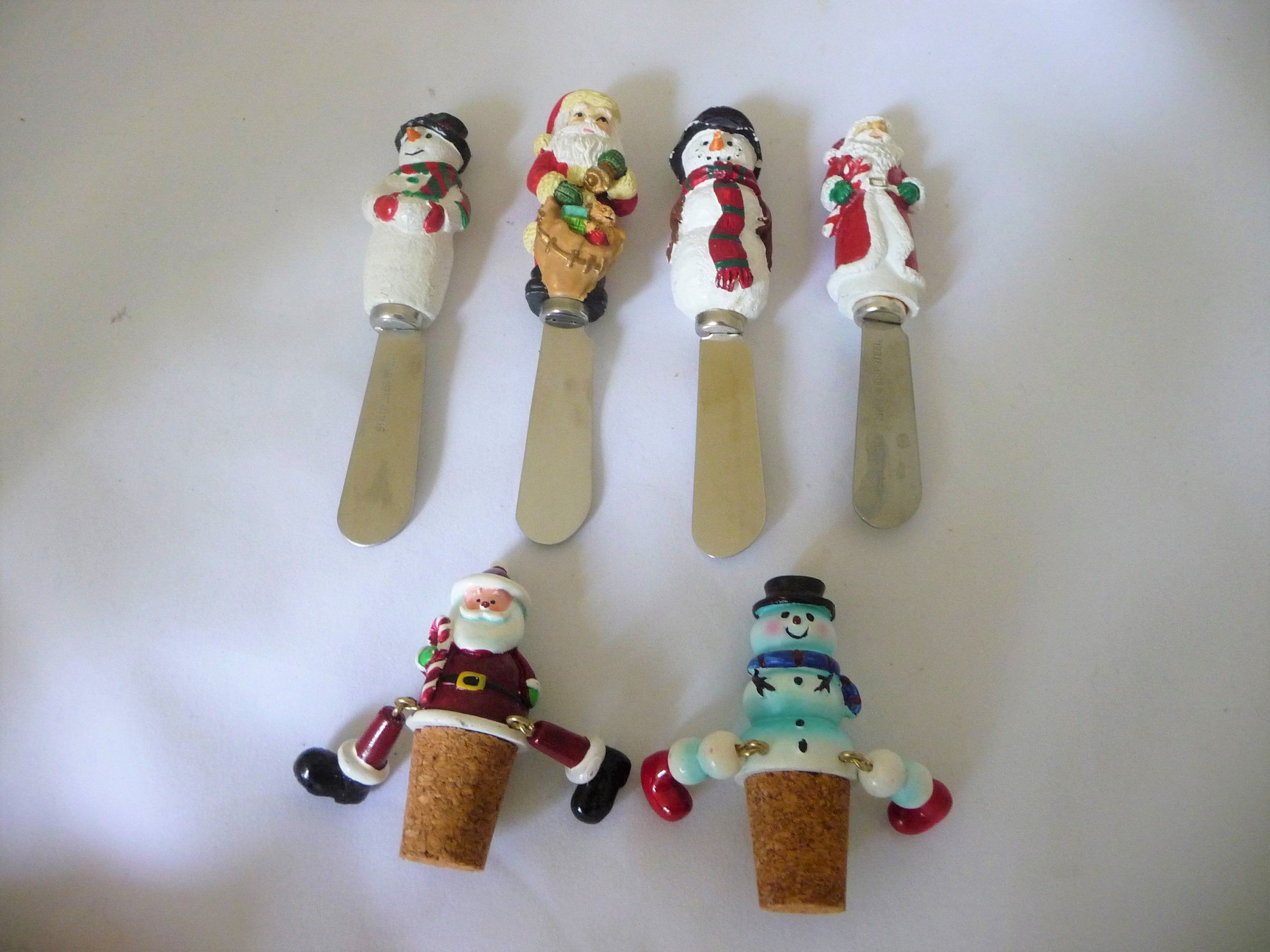 Christmas butter knives and wine corks wine cork butter