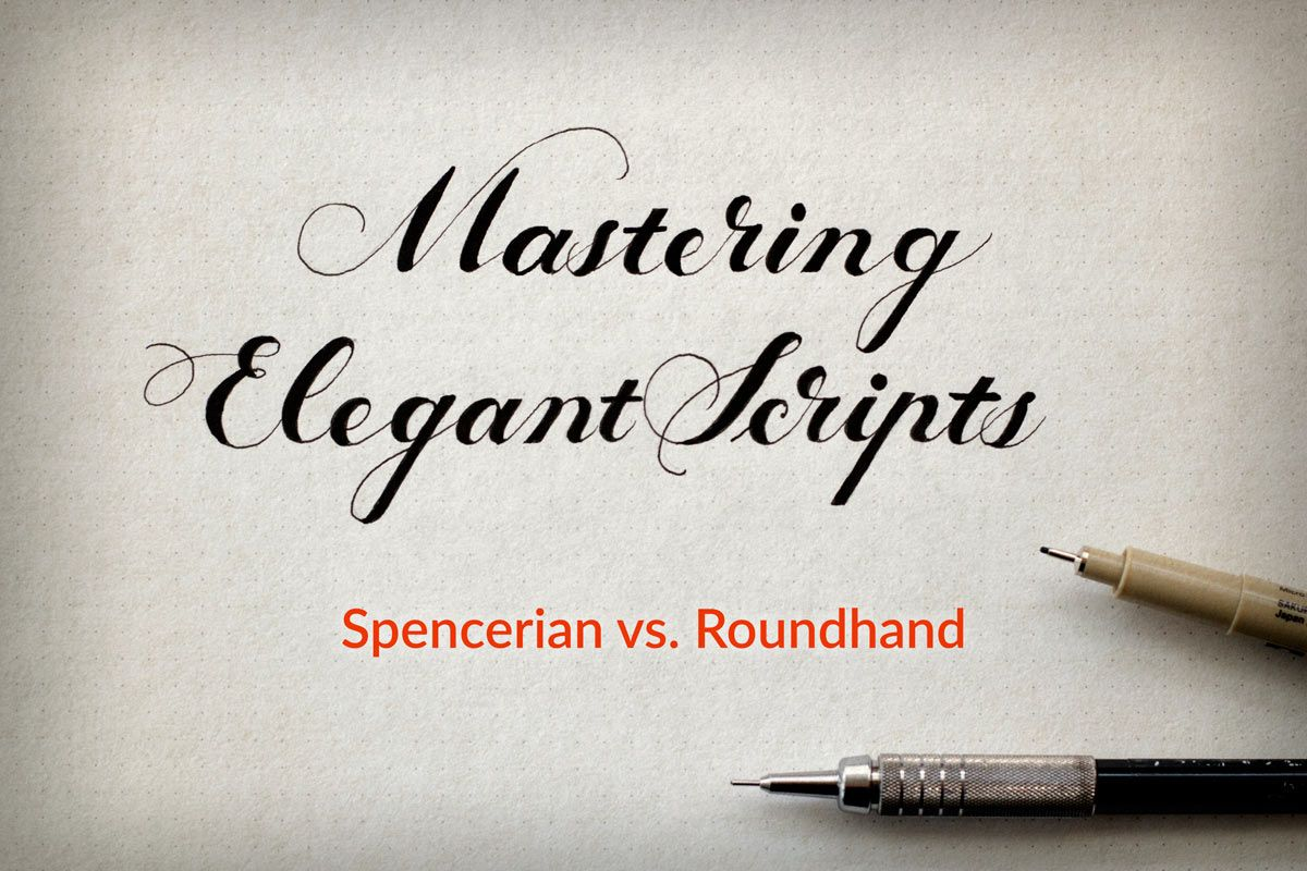 Elegant script spencerian and copperplate roundhand by jake