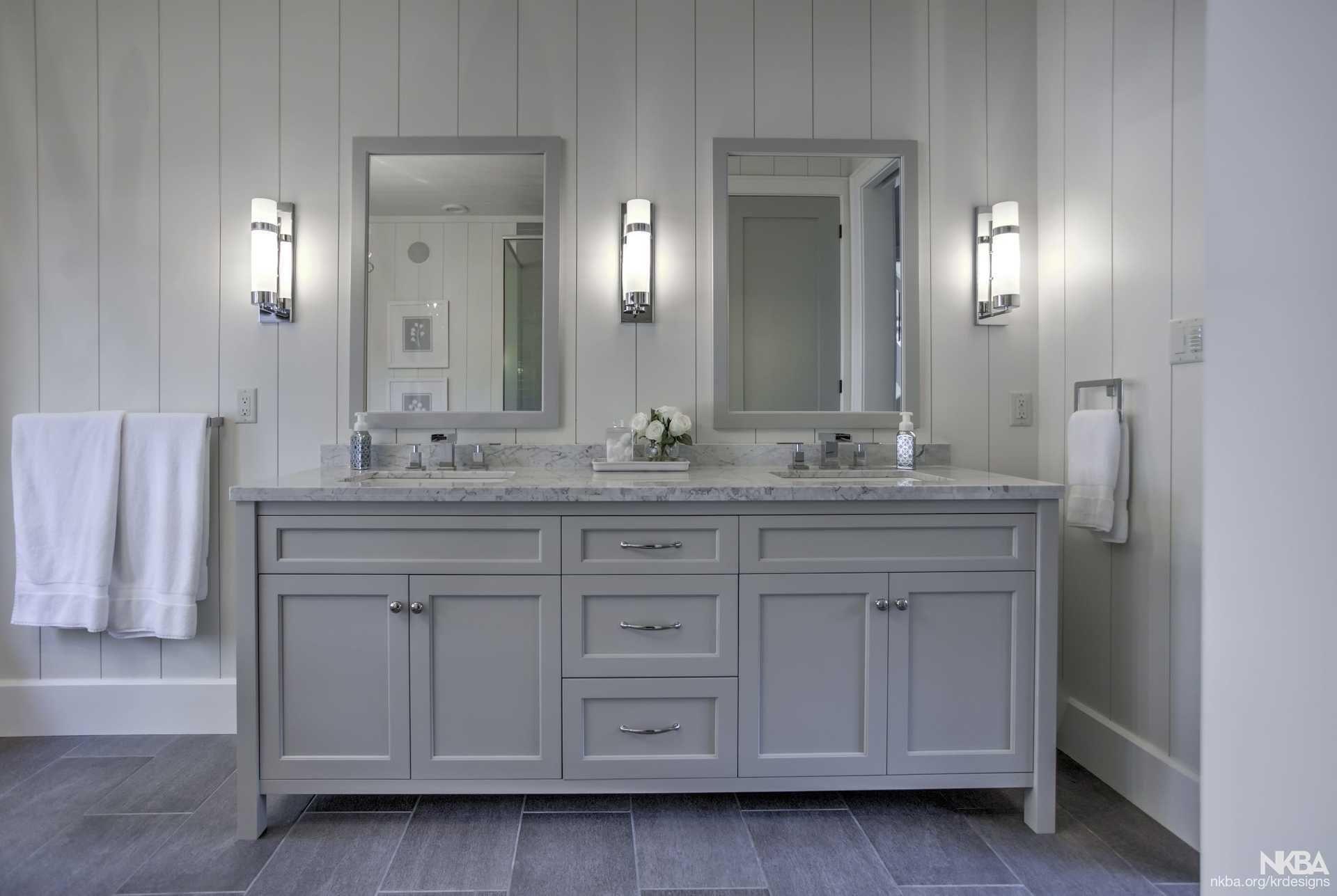Karin Ross Designs Freestanding Vanity In Master Bathroom Nkba Bathroom Master Bathroom Vanity [ 1287 x 1920 Pixel ]