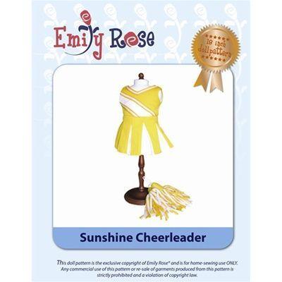 18-Inch Doll Clothes Pattern - Sunshine Cheerleader - Downloaded to your computer #18inchcheerleaderclothes Cheerleader uniform pattern $3.99- gotta make some ECU cheerleading uniforms! #18inchcheerleaderclothes