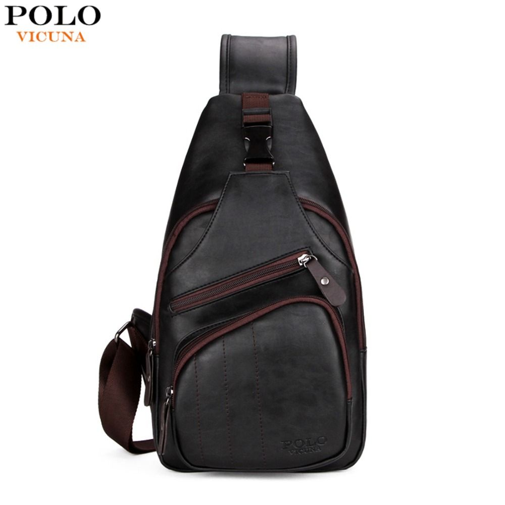 VICUNA POLO Personalized Anti-theft Buckle Open Men Crossbody Bag Perfect  Quality Mens Sling Bag 16669246cd01