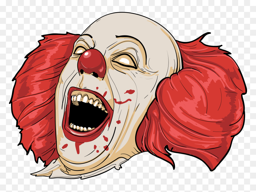 Download Clown Clipart Mouth Scary Clown Face Png Transparent Png Uokpl Rs Evil Clowns Scary Clown Face Scary Clowns