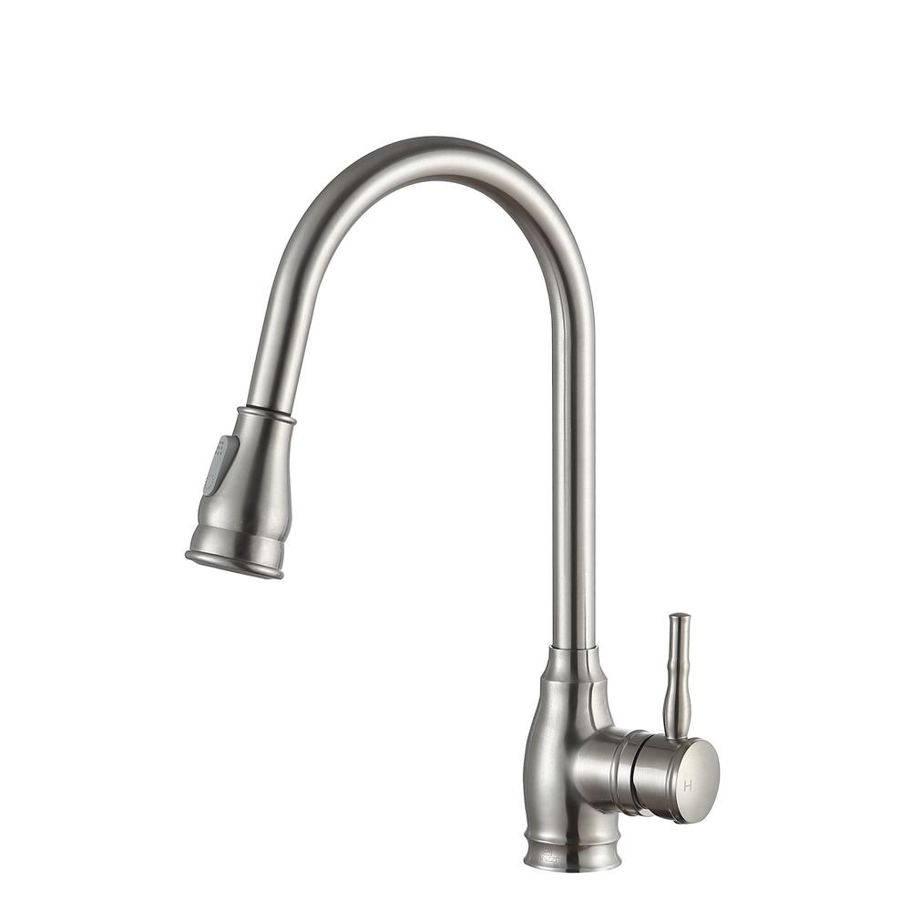 home depot kitchen faucets brushed