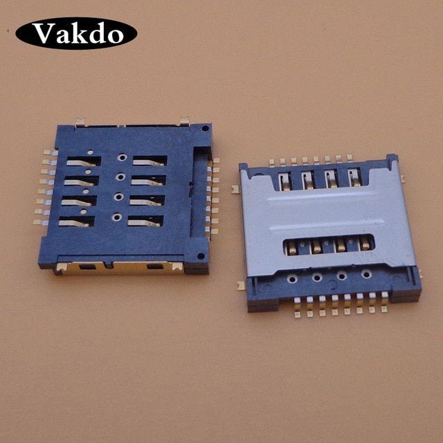 5pcs  Lot Dual 8p Sim Card Reader Socket Connector