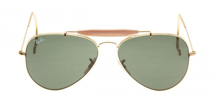 Ray-Ban RB3030 Outdoorsman 58 - Dourado - L0216   vestuario estilo ... 5c80cc09ef