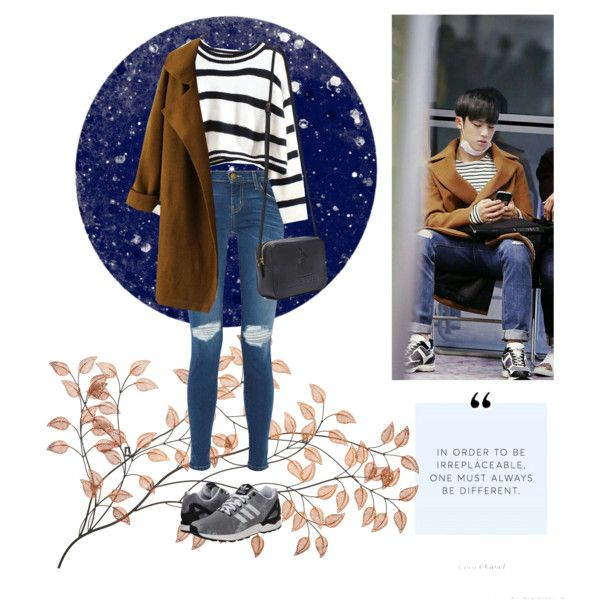 SEVENTEEN / Mingyu / Inspired Outfit by daren-intal on Polyvore featuring WithChic, Current/Elliott, adidas Originals, Lanvin, NARS Cosmetics, kpop, seventeen and mingyu