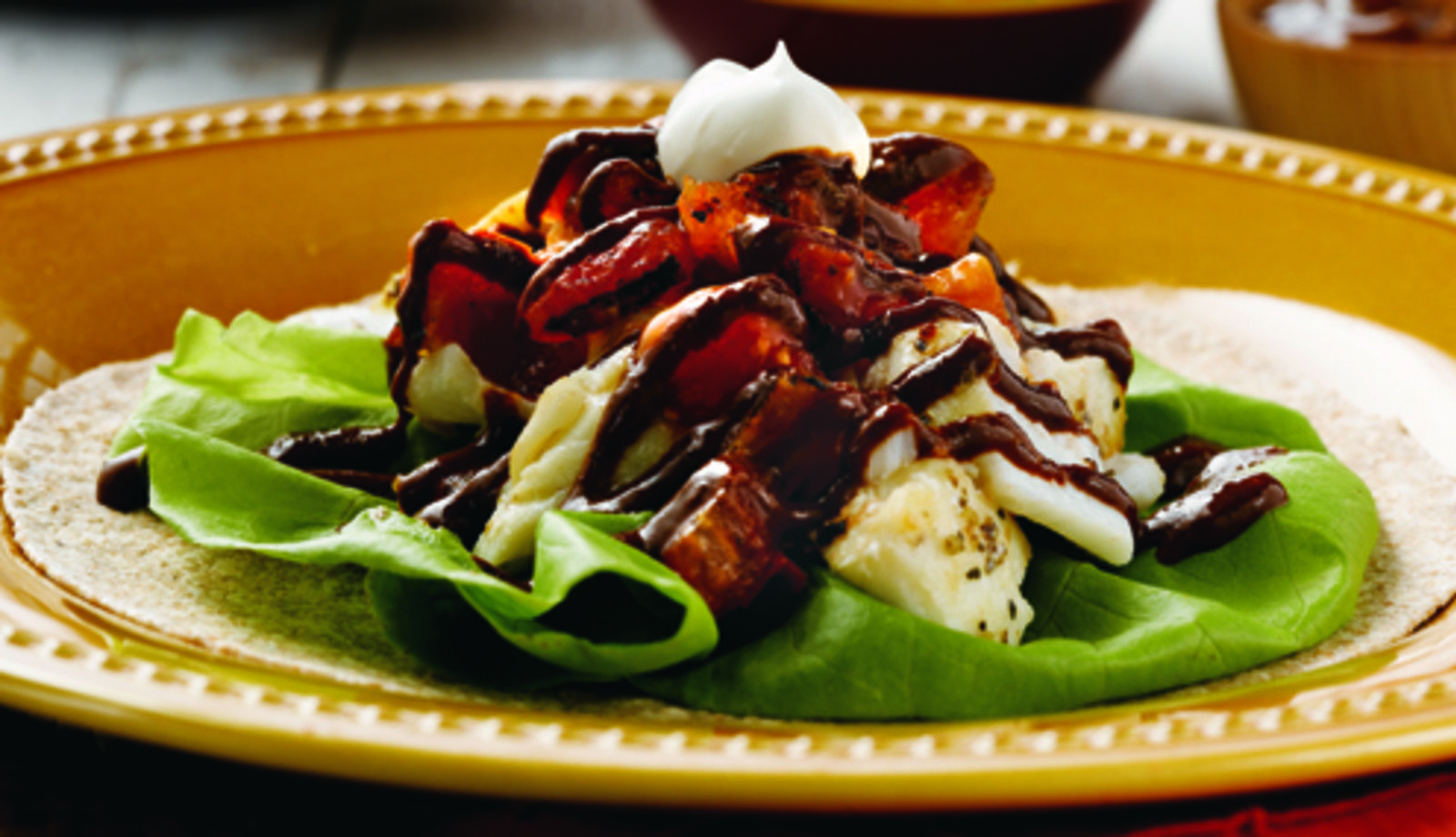 Do you Love fish tacos?  These Alaskan Cod Mole Tacos will blow your mind!