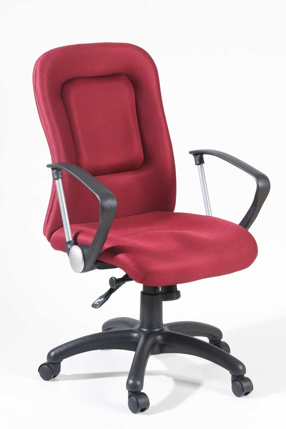 Red Contemporary And Ergonomic Office Chair For Bad Back