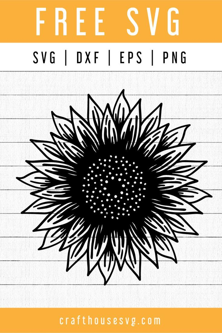FREE Sunflower SVG FB100 in 2020 Cricut svg files free