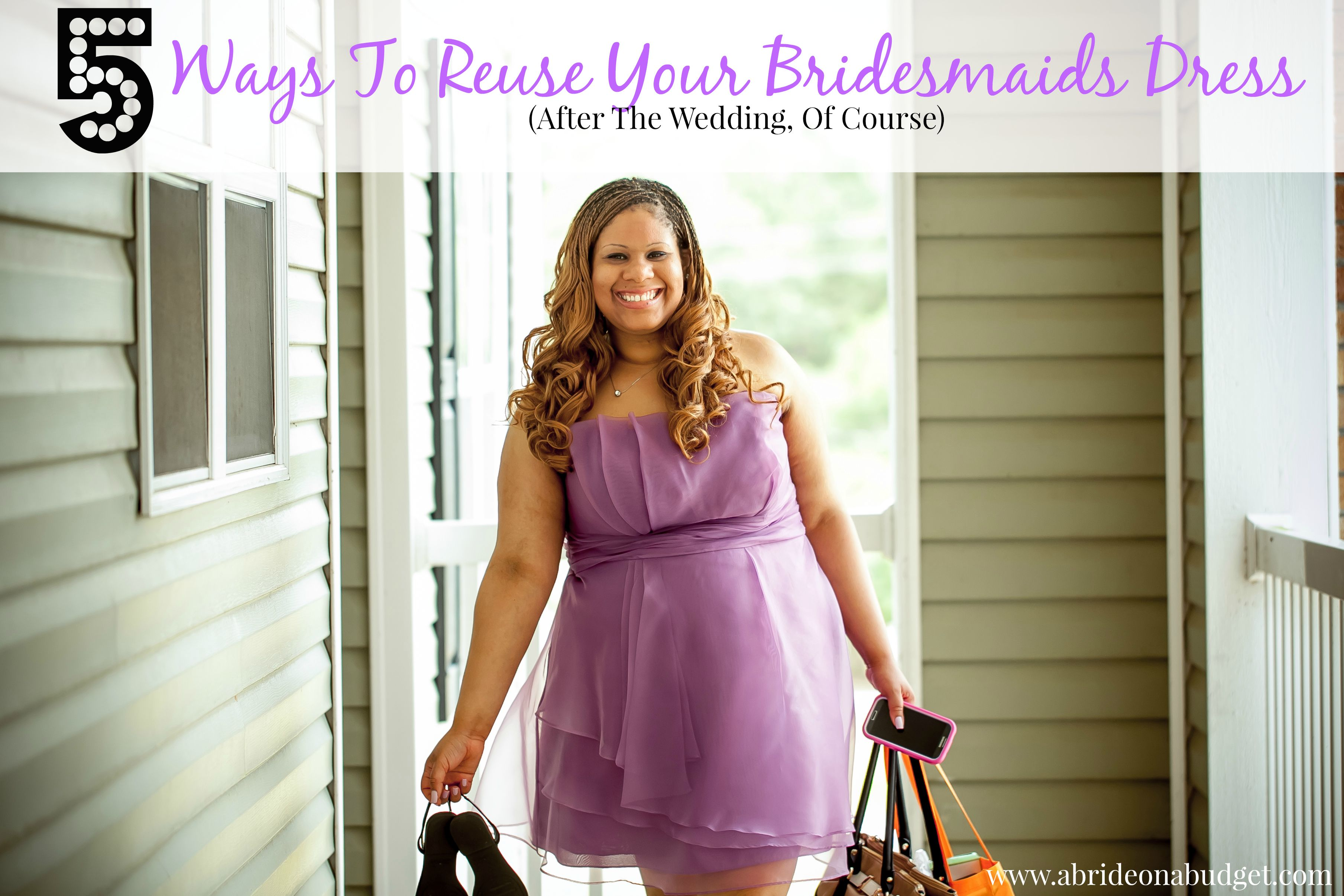 Five ways to reuse your bridesmaids dress after the wedding of