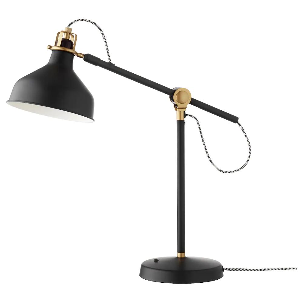 Ranarp Work Lamp With Led Bulb Black Ikea In 2020 Black Lamps Work Lamp Lamp