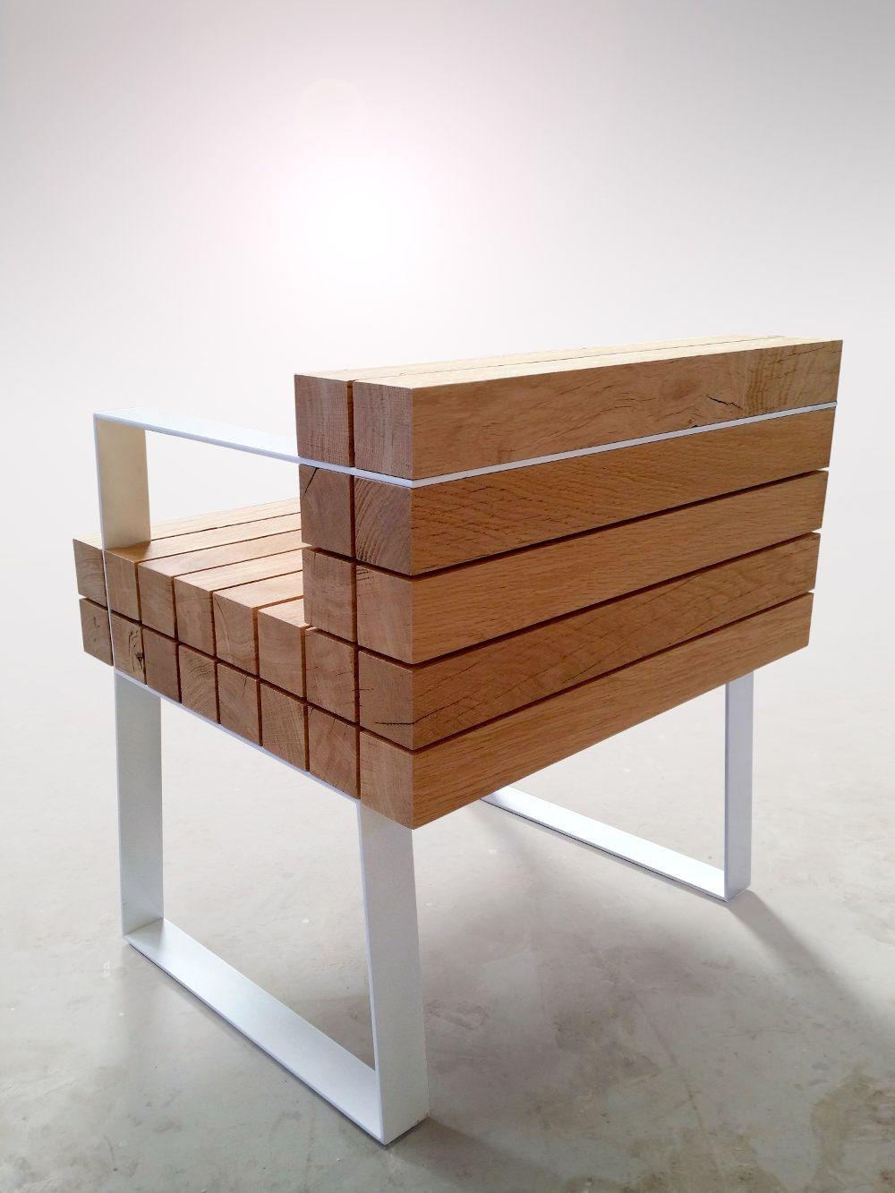 Chaiss Petit Fauteuil Par Sébastien Mazzoni Woods Armchairs And Bench - Petit fauteuil en bois