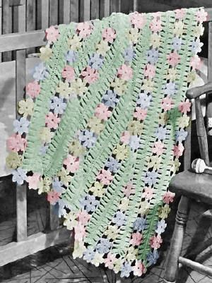 Baby Afghan Hairpin Lace Crochet Pattern Karensvariety