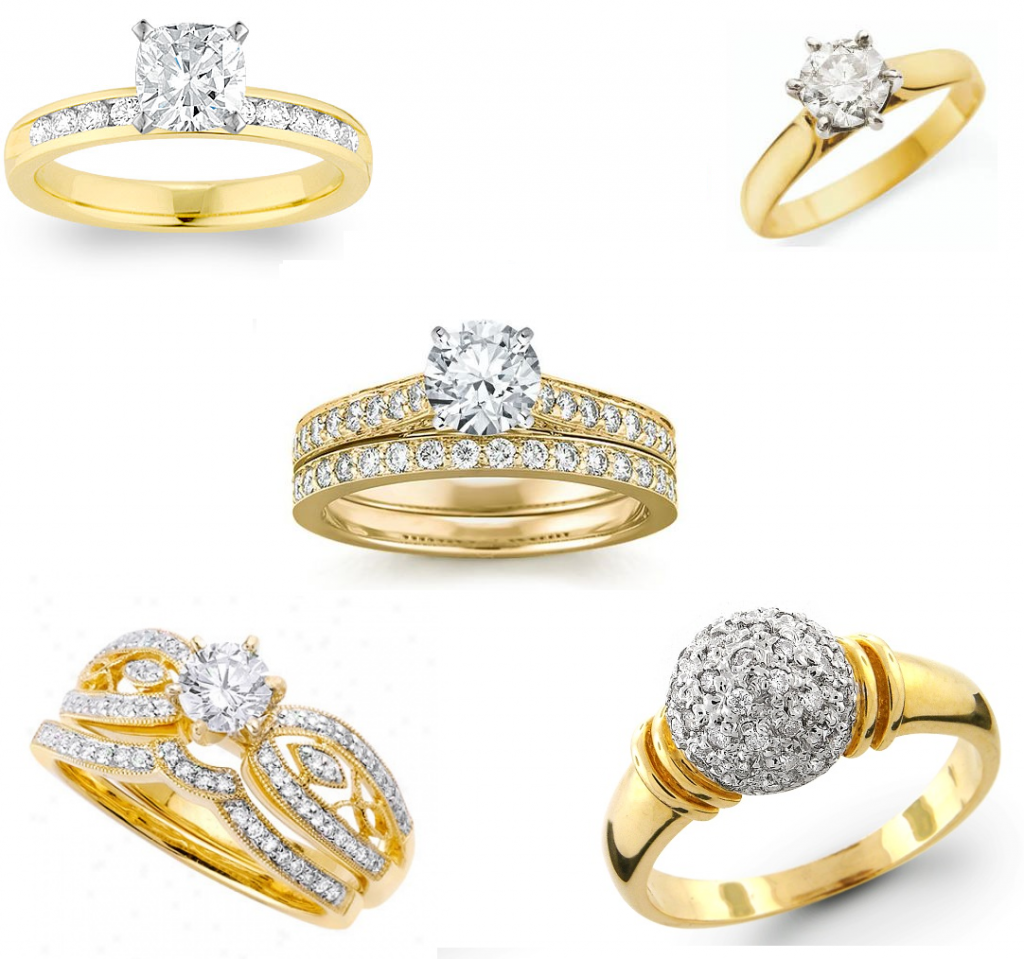 Beautiful Gold & Diamond Wedding Rings for Brides ...