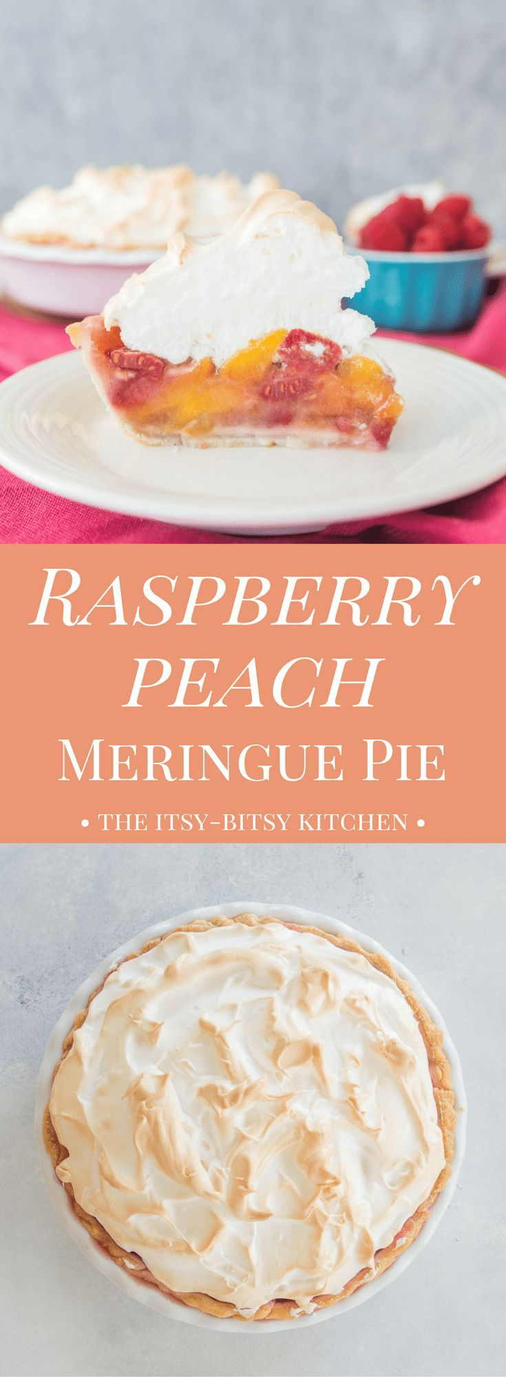 Raspberry Peach Meringue Pie