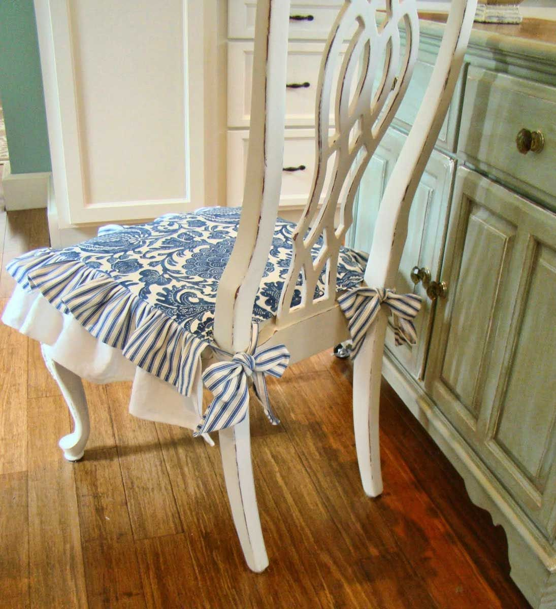 Мягкая сидушка для стула сшить фото 13